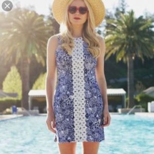 Lilly Pulitzer Dress upstream fish embroidered 4